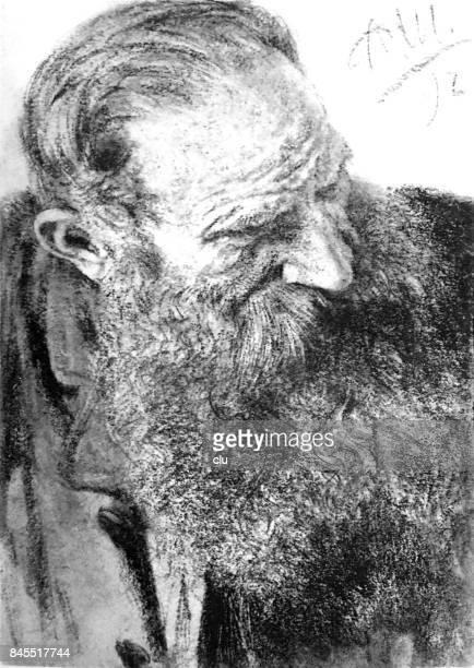 Portrait of a man with long beard
