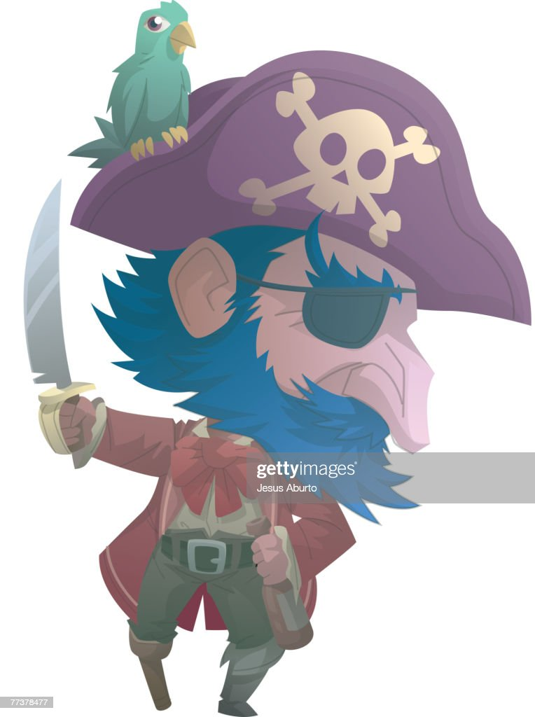 Portrait of a pirate : Illustration