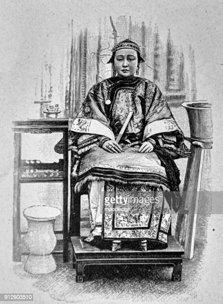 Portrait of a sitting adult Chinese woman - 1896