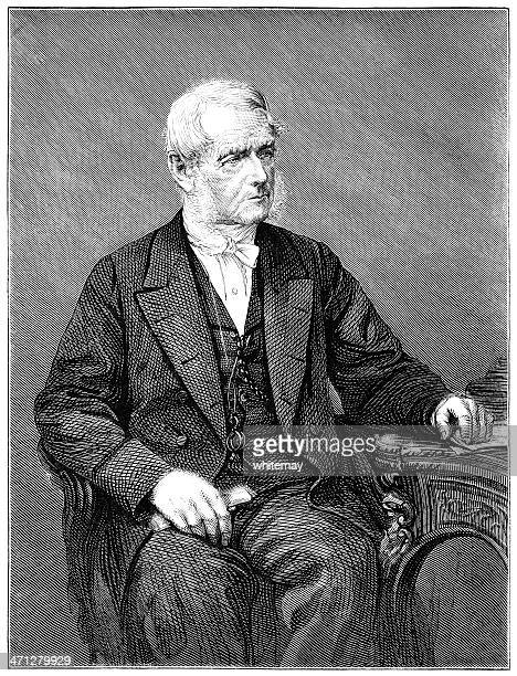 portrait of a victorian clergyman - humourless stock illustrations, clip art, cartoons, & icons