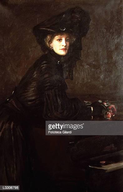 portrait of a woman in black - fine art portrait stock illustrations, clip art, cartoons, & icons