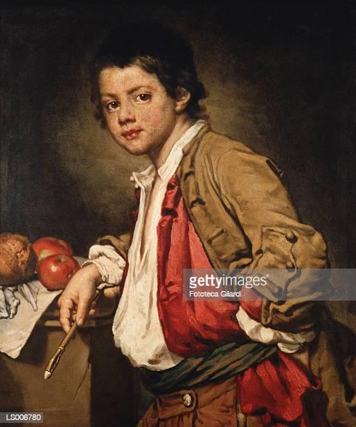 portrait of a young painter - fine art portrait stock illustrations, clip art, cartoons, & icons