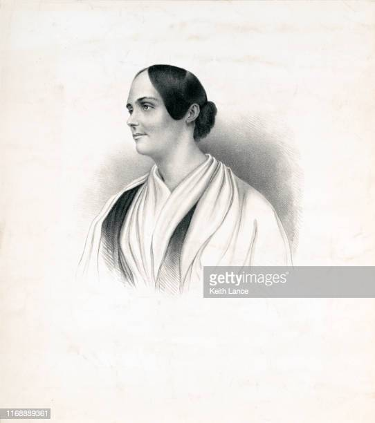 portrait of abby kelley foster, american abolitionist - black civil rights stock illustrations, clip art, cartoons, & icons