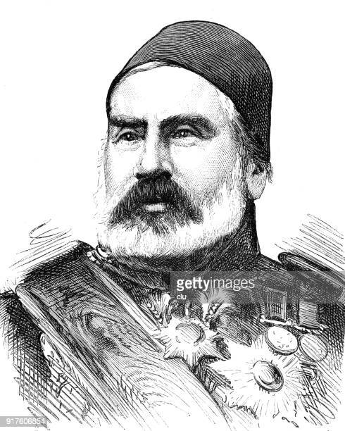 Portrait of Abdul Kemir Pascha, leader of the turkish army