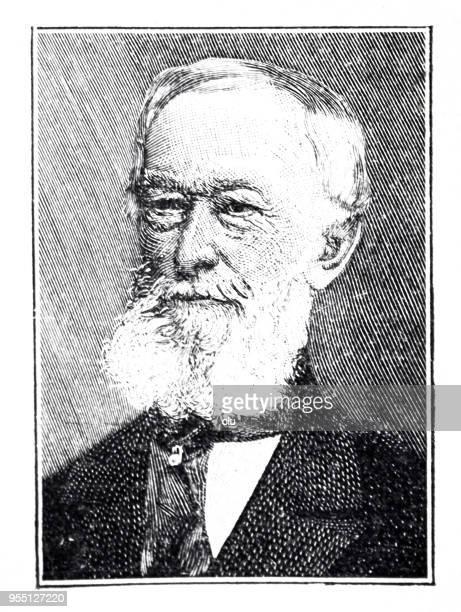Portrait of Alfred Krupp, german inventor, 1812-1887