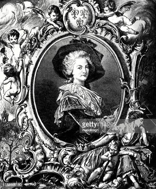 ilustraciones, imágenes clip art, dibujos animados e iconos de stock de retrato de una mujer aristocrática en el marco - renacimiento