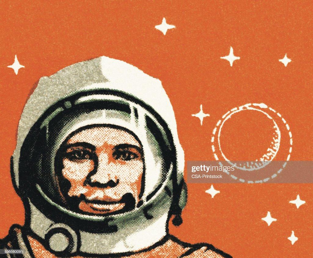 Portrait of an Astronaut : stock illustration