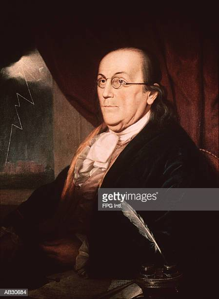 portrait of benjamin franklin - benjamin franklin stock illustrations, clip art, cartoons, & icons