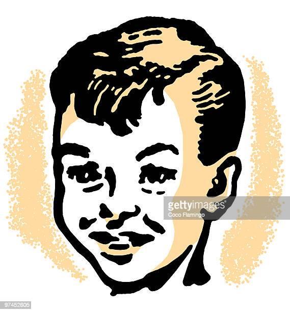 portrait of boy smiling - tiziano vecellio stock illustrations, clip art, cartoons, & icons