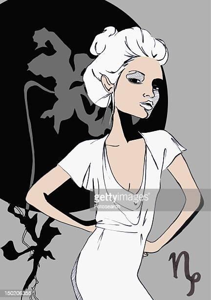 Portrait of Capricorn woman