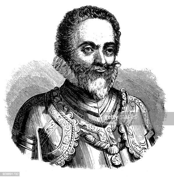 portrait of charles iii, duke of lorraine - lorraine stock illustrations, clip art, cartoons, & icons