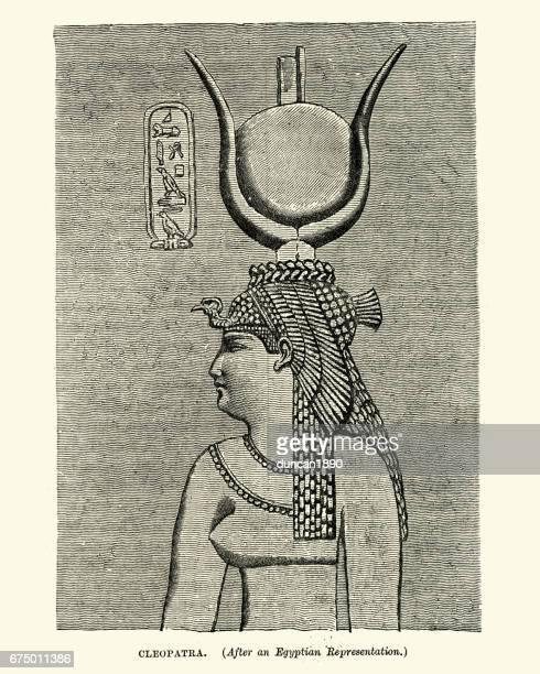 illustrazioni stock, clip art, cartoni animati e icone di tendenza di ritratto di cleopatra - cleopatra