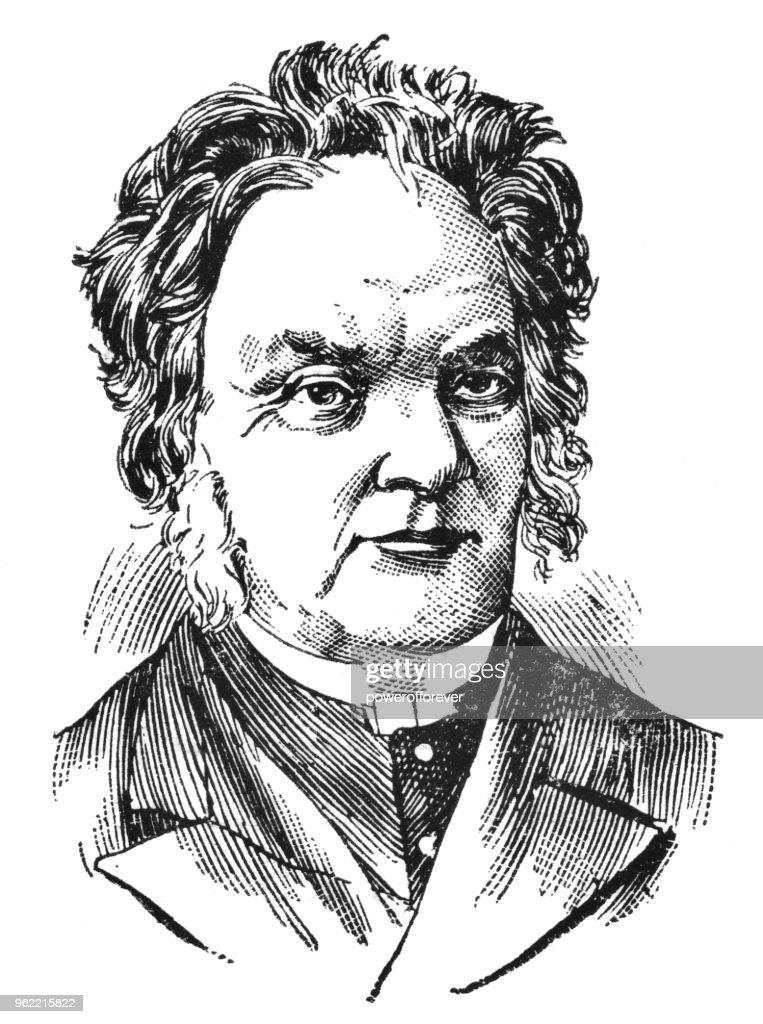 Portrait of Egerton Ryerson - 19th Century : Stock Illustration