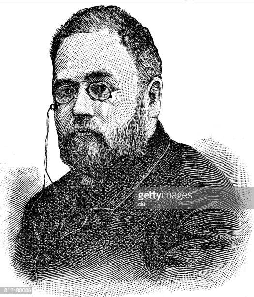 Portrait of Emile Zola, french poet. Headshsot.