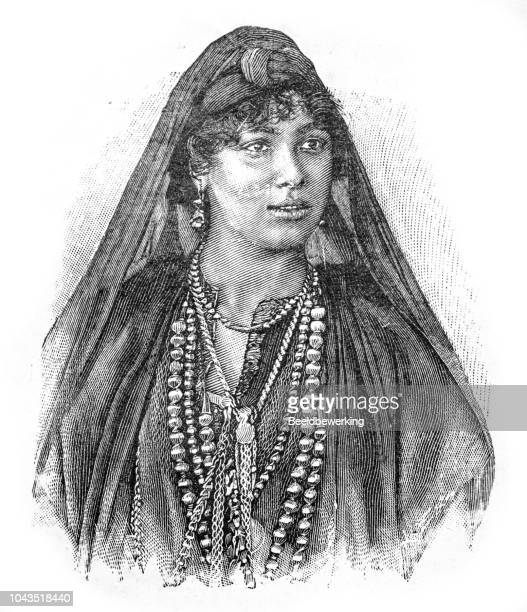 Portrait of fellah  girl illustration 1895 'the Earth and her People'