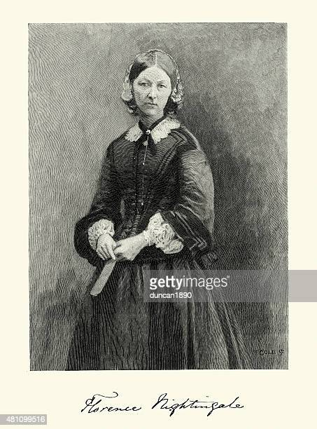 portrait of florence nightingale - florence nightingale stock illustrations
