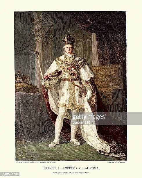 portrait of francis ii, holy roman emperor - king royal person stock illustrations, clip art, cartoons, & icons