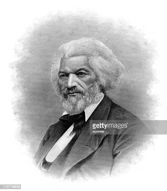 portrait of frederick douglass - human rights stock illustrations