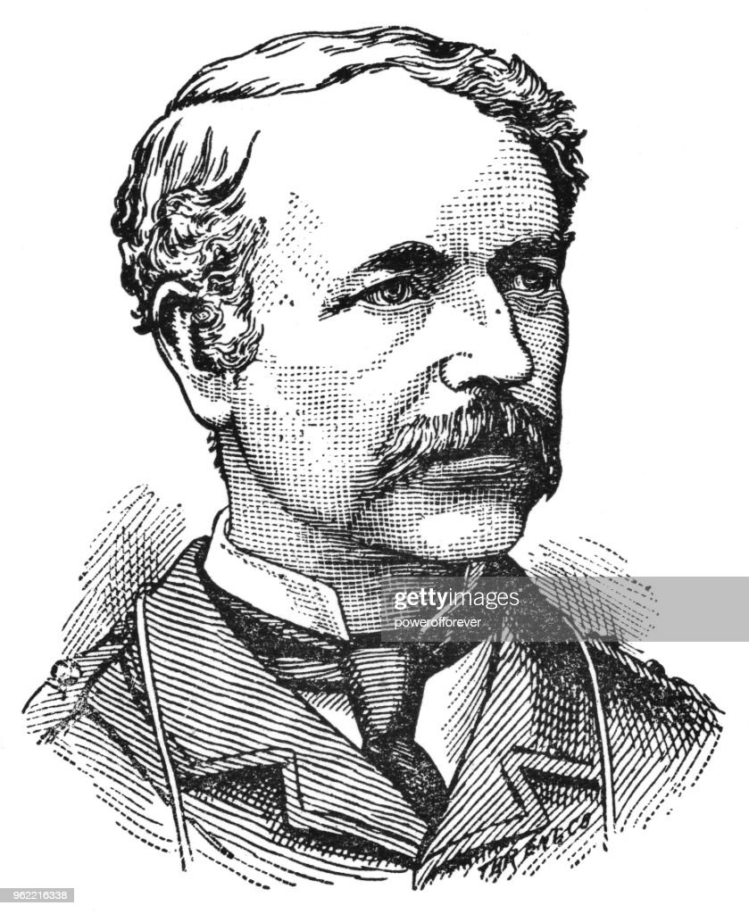 Portrait of Garnet Wolseley - 19th Century : Stock Illustration