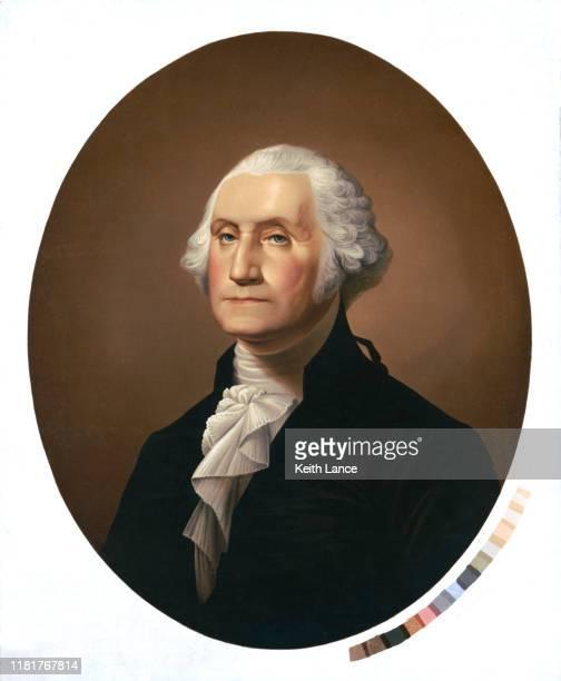 portrait of george washington - bill of rights stock illustrations