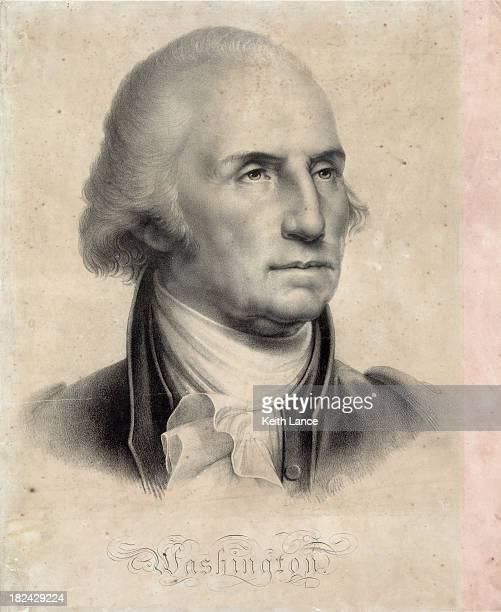portrait of george washington - us president stock illustrations, clip art, cartoons, & icons