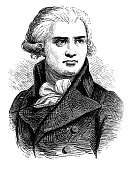 illustration portrait georges danton french revolutionary
