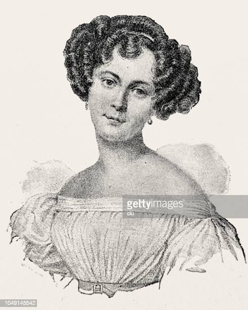 Retrato de la actriz alemana Auguste Crelinger, 1795-1865