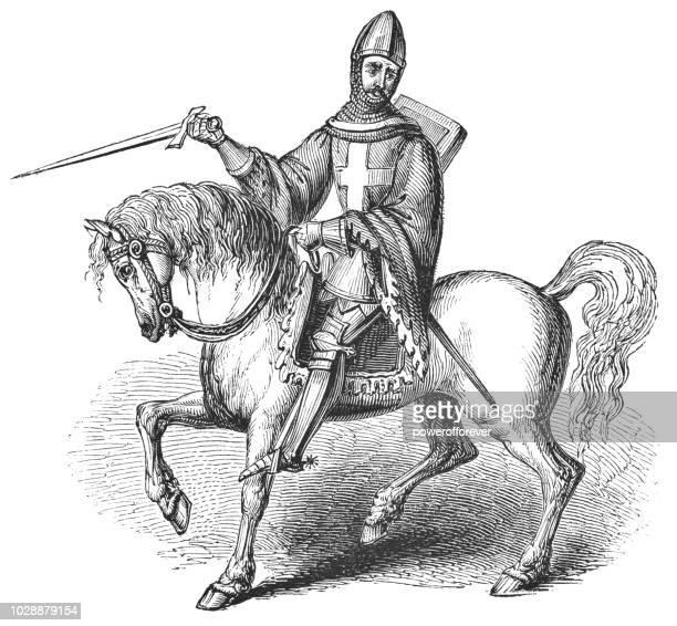 portrait of henry v, king of england - henry v of england stock illustrations, clip art, cartoons, & icons