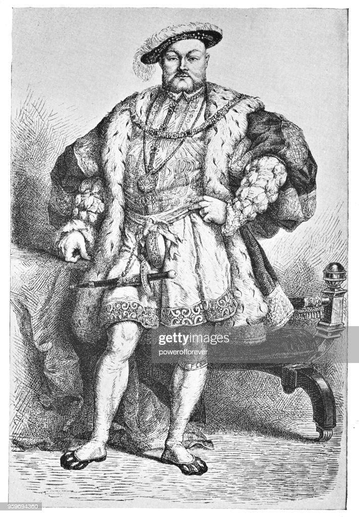 Porträt von Heinrich VIII - 19. Jahrhundert : Stock-Illustration