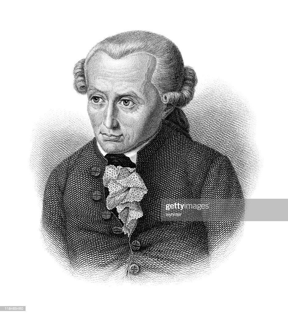 Portrait of Immanuel Kant : stock illustration