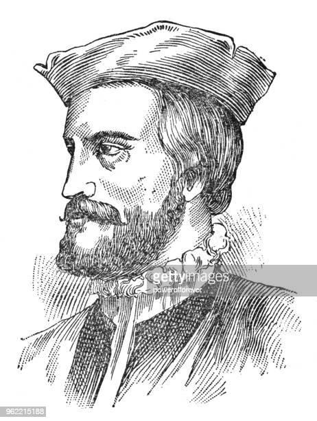 ジャック ・ カルティエ - 19 世紀の肖像画 - ジャック カルティエ点のイラスト素材/クリップアート素材/マンガ素材/アイコン素材