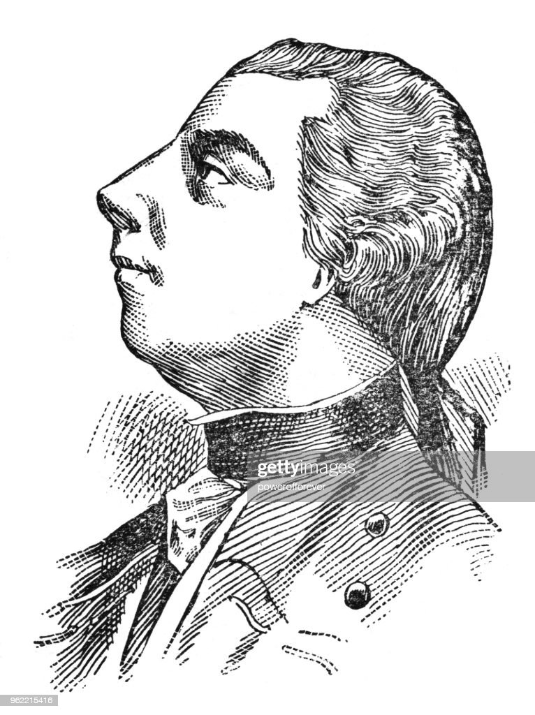 Portrait of James Wolfe - 19th Century : Stock Illustration