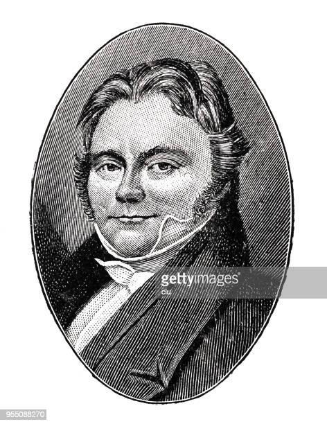 Jöns ヤコブ Berzelius、スウェーデンの化学者, 1779-1848 年の肖像画