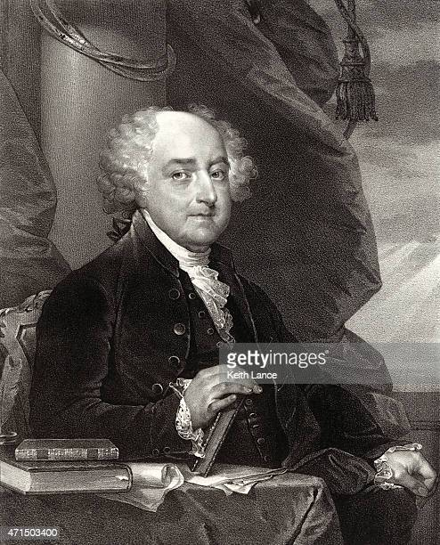portrait of john adams - president stock illustrations, clip art, cartoons, & icons