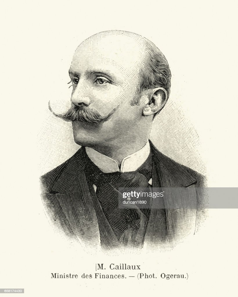 Portrait of Joseph Caillaux, 1899 : stock illustration