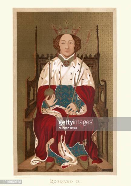illustrations, cliparts, dessins animés et icônes de portrait du roi richard ii d'angleterre - king royal person