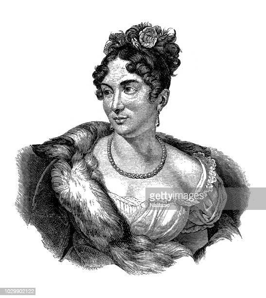 Portrait of Mademoiselle Mars, French actress