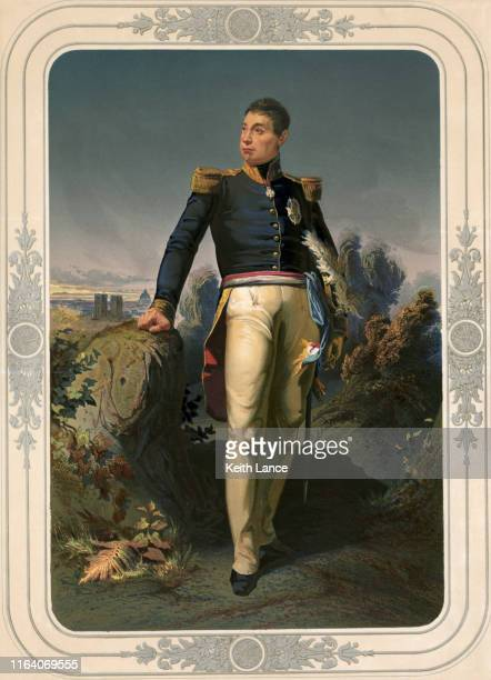 portrait of marquis de lafayette (1757-1834) - 18th century stock illustrations