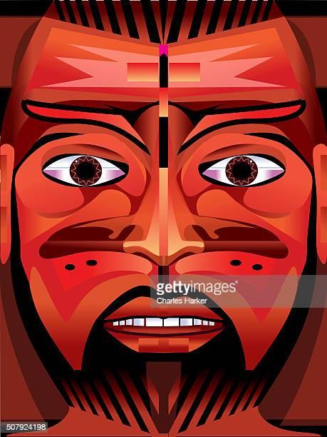 Portrait of Mexican Man Illustration