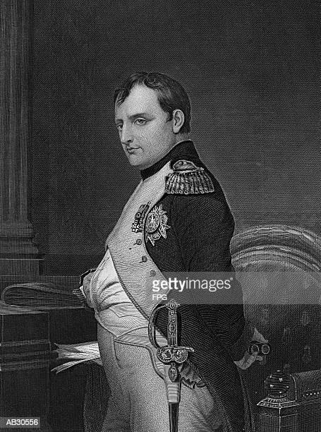 portrait of napoleon bonaparte - the past stock illustrations