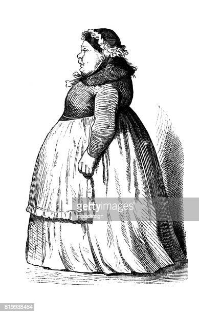 Portrait of obese woman - 1867