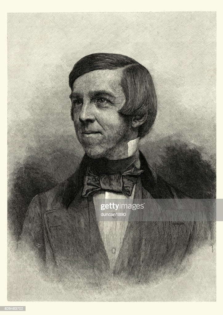 Portrait of Oliver Wendell Holmes, Snr : stock illustration