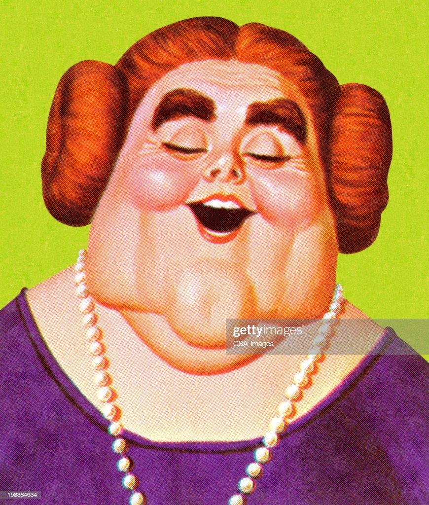 Portrait of Overweight Woman : stock illustration