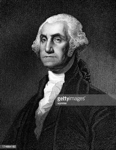 portrait of president george washington - former stock illustrations, clip art, cartoons, & icons