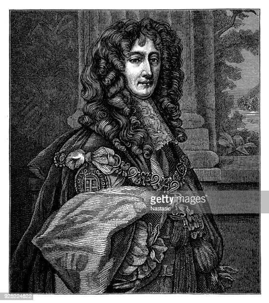 portrait of prince rupert wittelsbach of rhine (1619-1682), duke of bavaria, duke of cumberland, earl of holderness, german general and admiral, - us navy stock illustrations, clip art, cartoons, & icons
