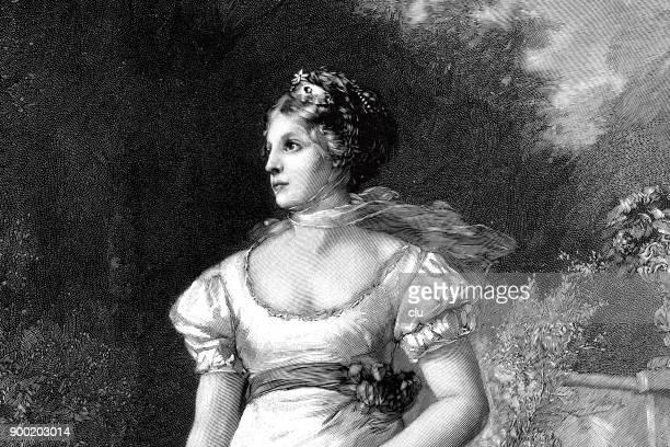 王妃ルイーゼの肖像画 - 1890~1899年点のイラスト素材/クリップアート素材/マンガ素材/アイコン素材