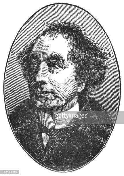 portrait of sir john a. macdonald, 1st prime minister of canada - 19th century - first occurrence stock illustrations