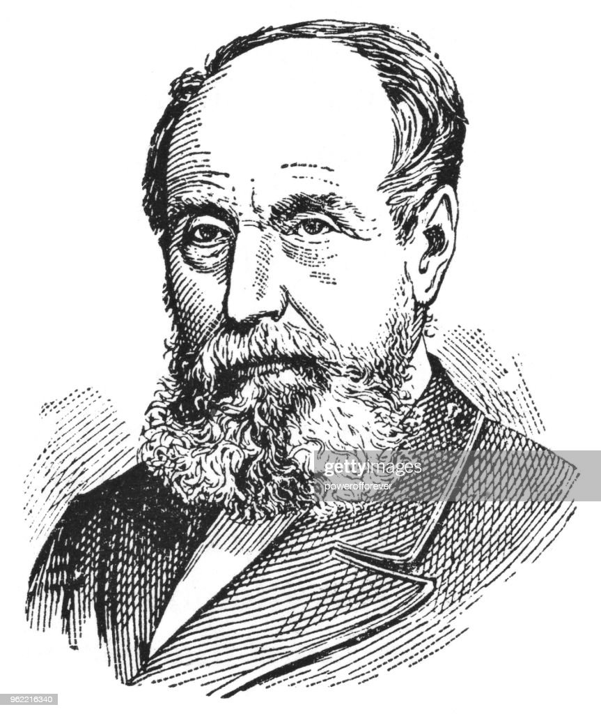 Portrait of Sir John William Dawson - 19th Century : Stock Illustration