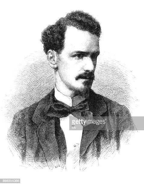 Porträtt av den franske poeten och politikern Henri Rochefort