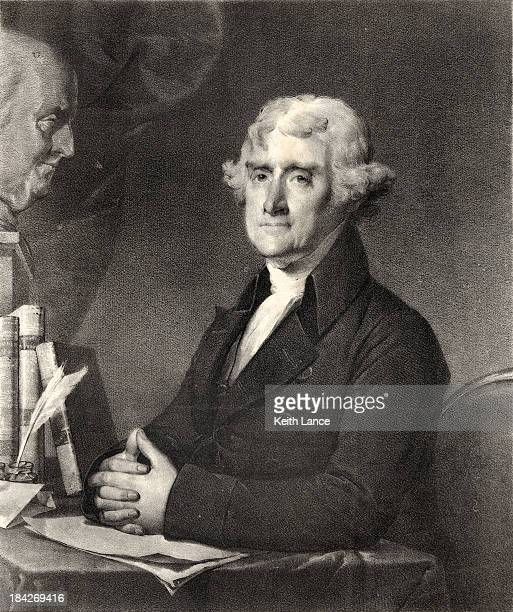portrait of thomas jefferson - thomas jefferson stock illustrations, clip art, cartoons, & icons